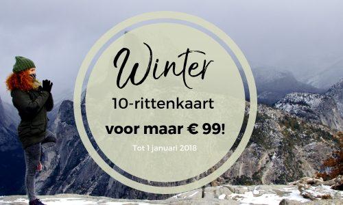 Winter 10-rittenkaart voor maar € 99 (i.p.v. € 145) tot 1 januari 2019