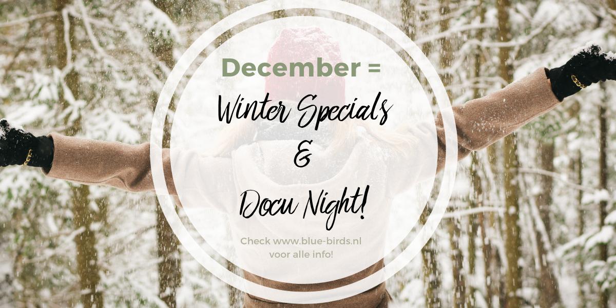 Winter specials en Docu night bluebirds
